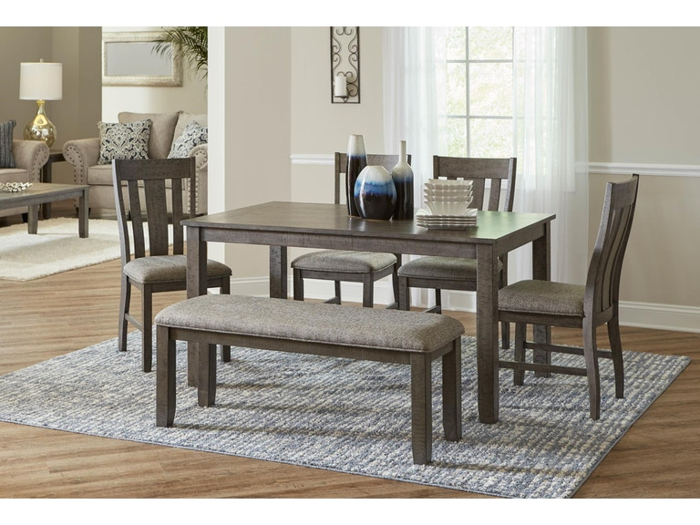 Lane Home Furnishings Dining Room 6 Piece Dining Set Table 4 Chairs And Dining Bench 5045 54