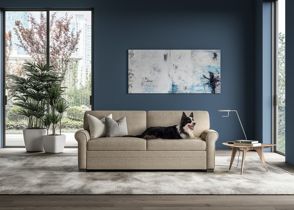 American Leather Living Room Sofa Sleeper Queen Size Gne