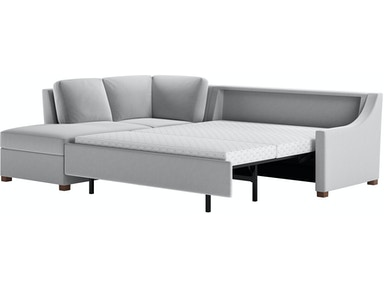 American Leather Living Room 2 Piece Sleeper Sectional Queen Size Pry Sect1