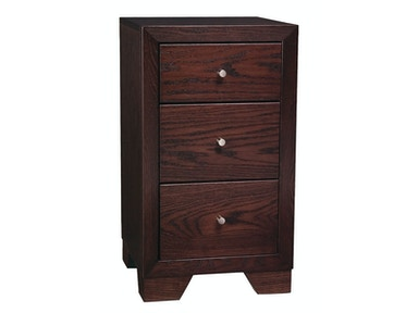 Abalone Thebes 17in 3 Drawer Nightstand AW5901