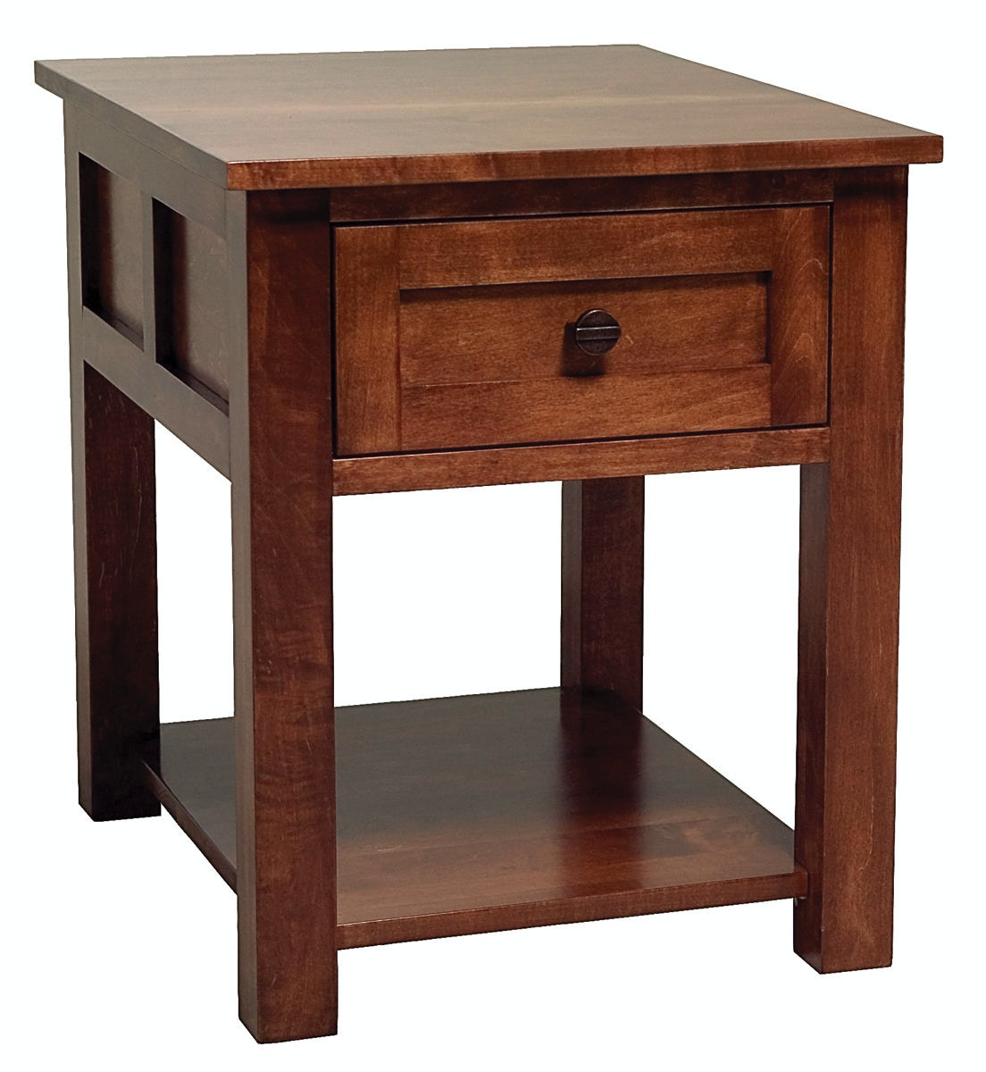 Attrayant Abalone Sherwood 1 Drawer End Table AW7321