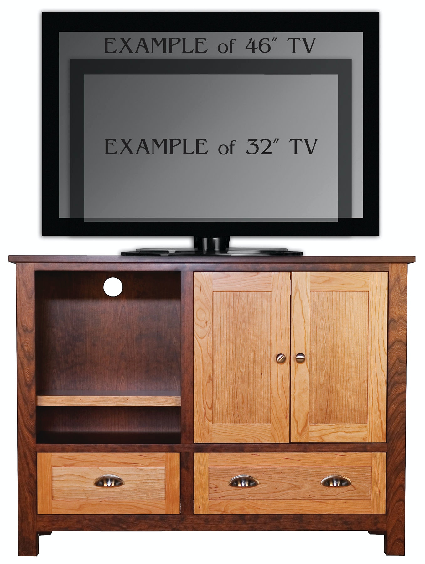 Abalone Home Entertainment Sherwood 36in Tv Stand B Aw7381 B