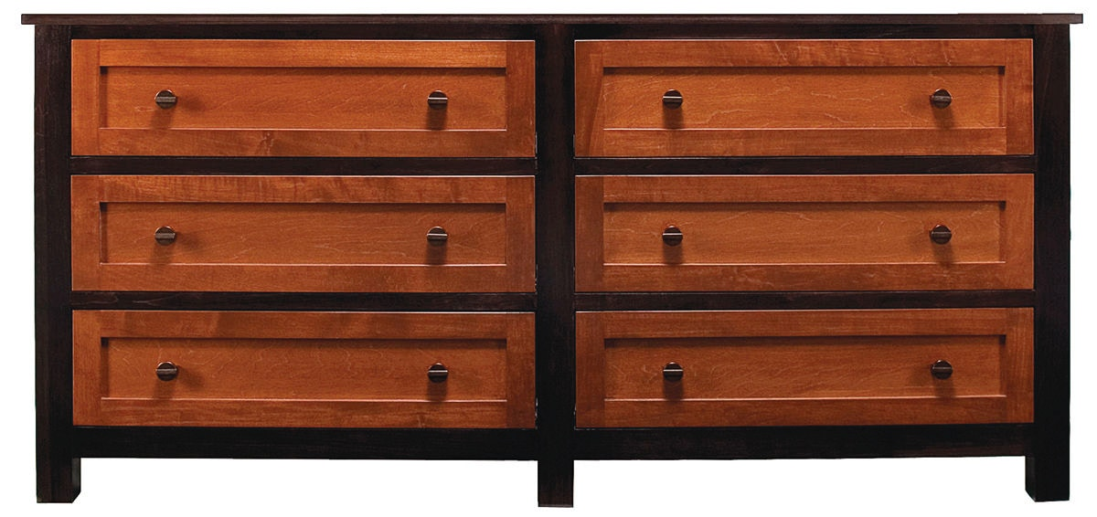 Full Extension Ball Bearing Drawer Glides. Lacqured English Dovetailed Solid  Maple Five Board Drawers. Noble 6 Drawer Dresser AW7420 Abalone