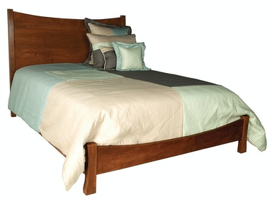 Abalone Panel Low Footboard Bed AW8040