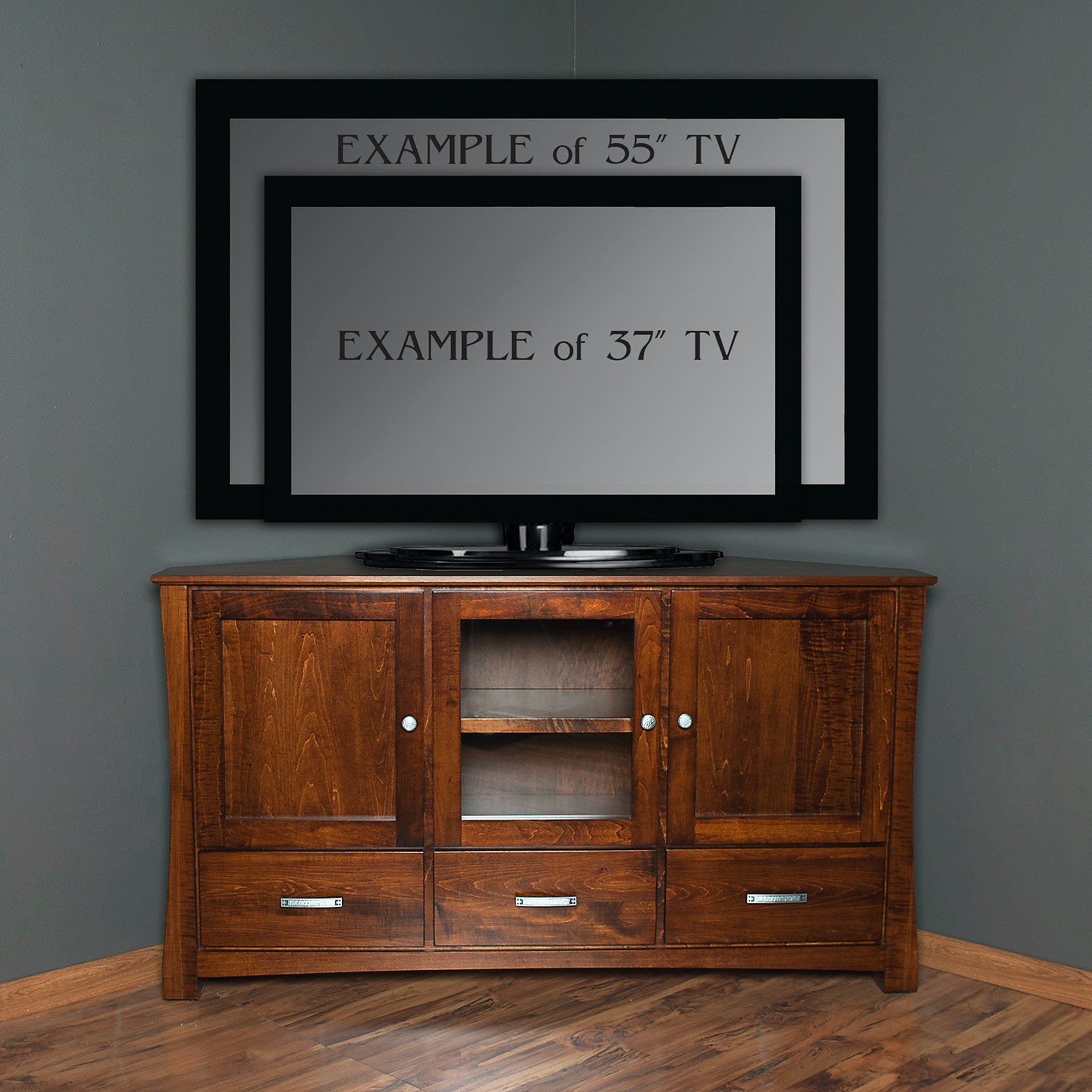 Abalone Home Entertainment Avery 36in Corner Tv Stand D Aw8386 D