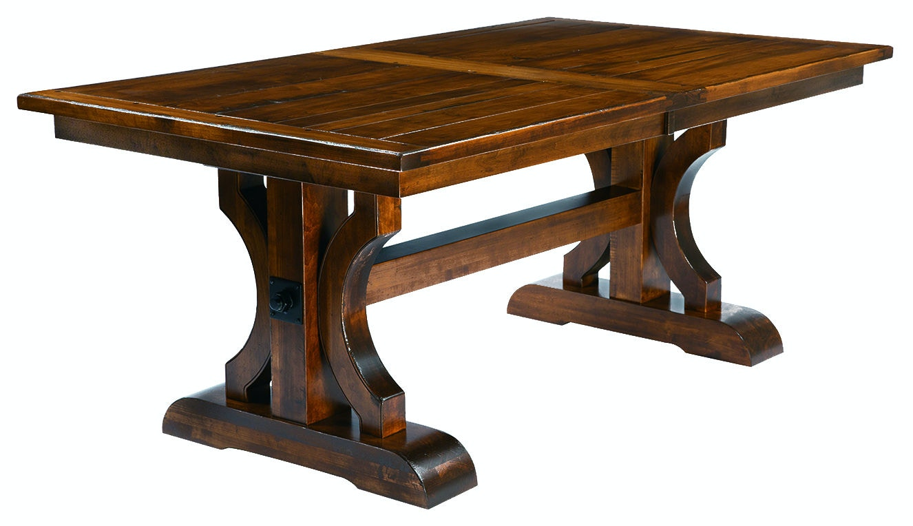 County Line Bryce 48X72 Planked Top Table CL4814 4872