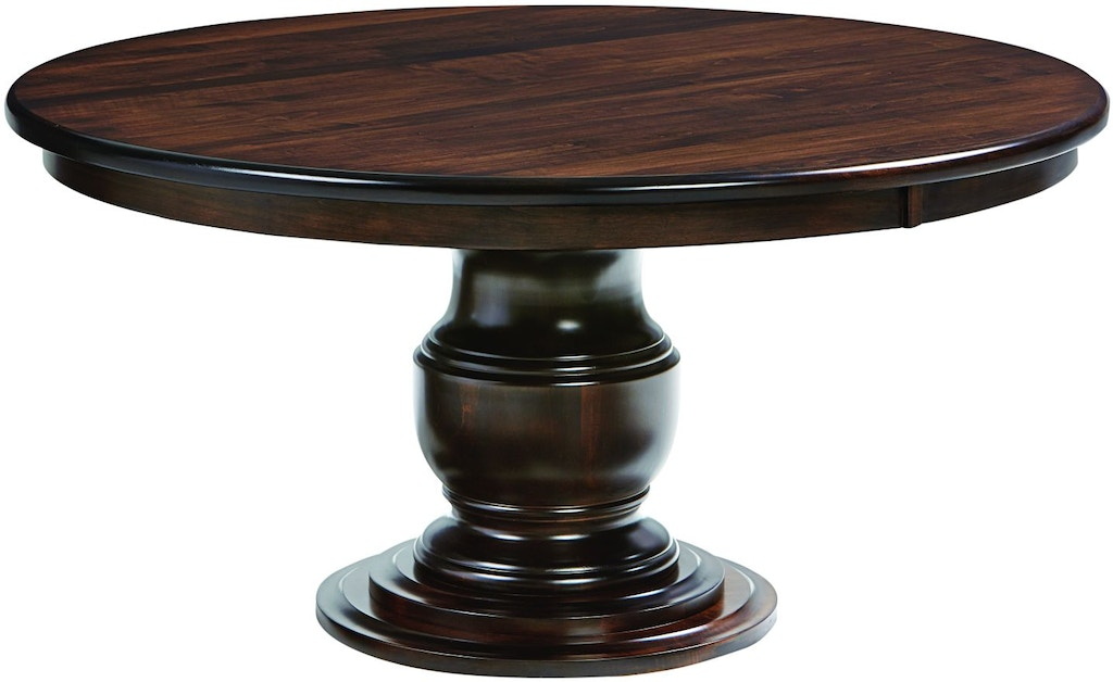 County Line Dining Room Zale 60 Round Extension Table Cl5839 60 Penny Mustard Milwaukee