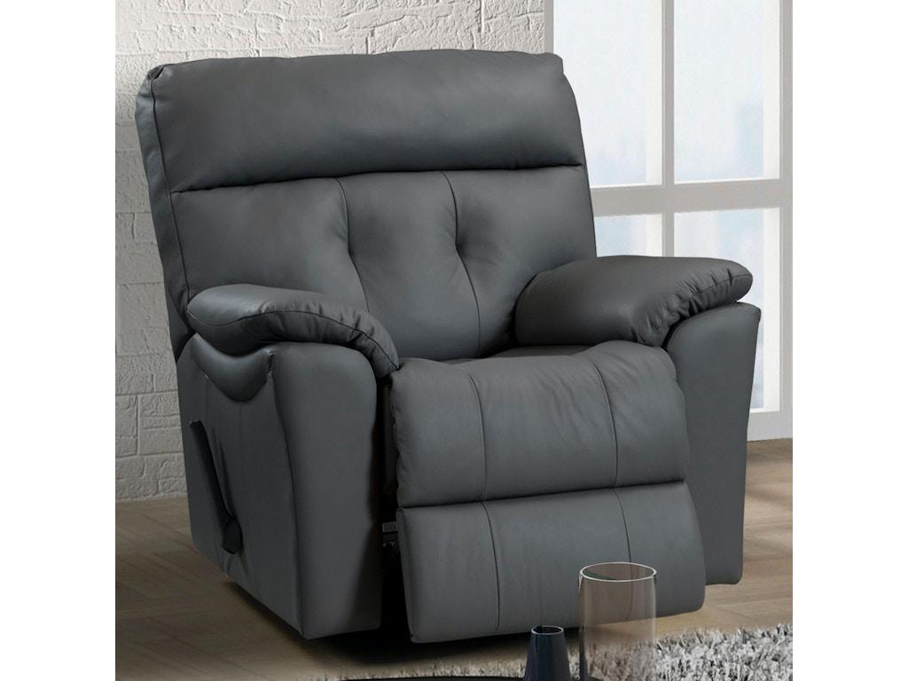 Elran Living Room Swivel Rocker Recliner Er40052 03