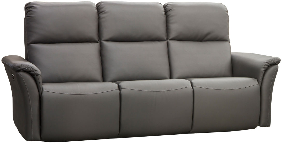 Elran Living Room Power Reclining Sofa W Power Headrest Er40316  ~ Motorized Reclining Sofa