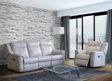 Merveilleux Elran Power Reclining Sofa W/Power Headrest ER40366 OPH
