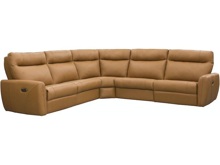 Elran Living Room Power Reclining Condo Sectional W Power Headrest Er4053 Icoph Penny Mustard