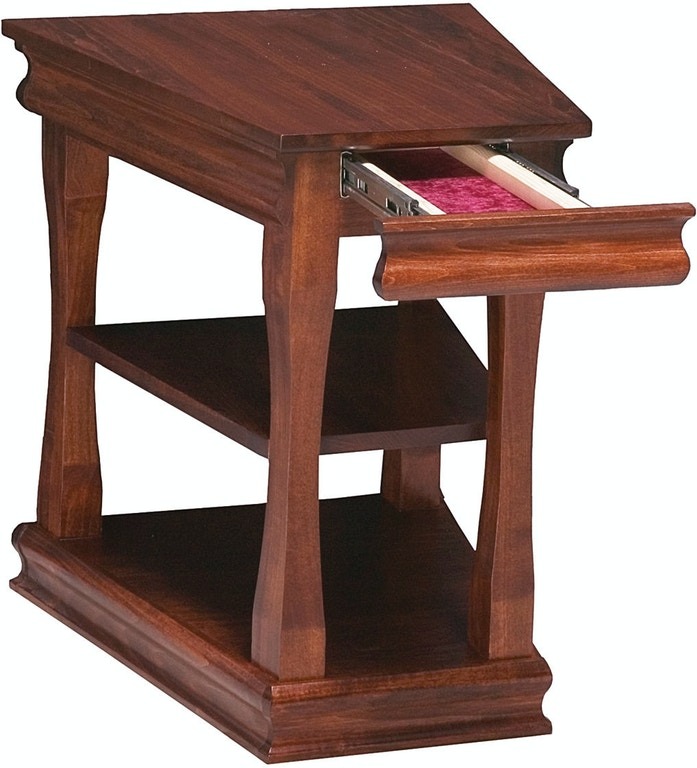 Parrot Wedge End Table