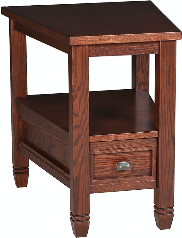 Rima 1 Drawer Wedge End Table