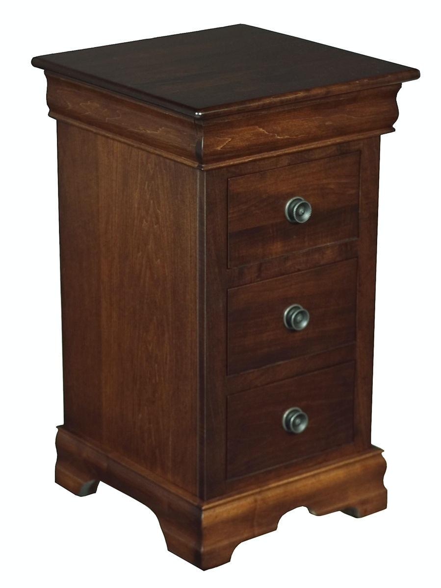 mystic creek bedroom 3 drawer narrow nightstand mc5911 - penny Narrow Nightstand