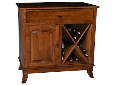 Mystic Creek Brie 1 Drawer Buffet-Wine MC8005-1W