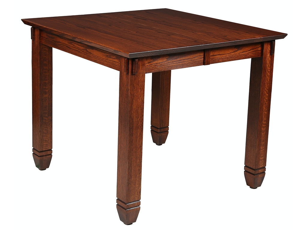 Mystic creek dining room rima 42x42 extension table mc8611 for Dining room tables milwaukee
