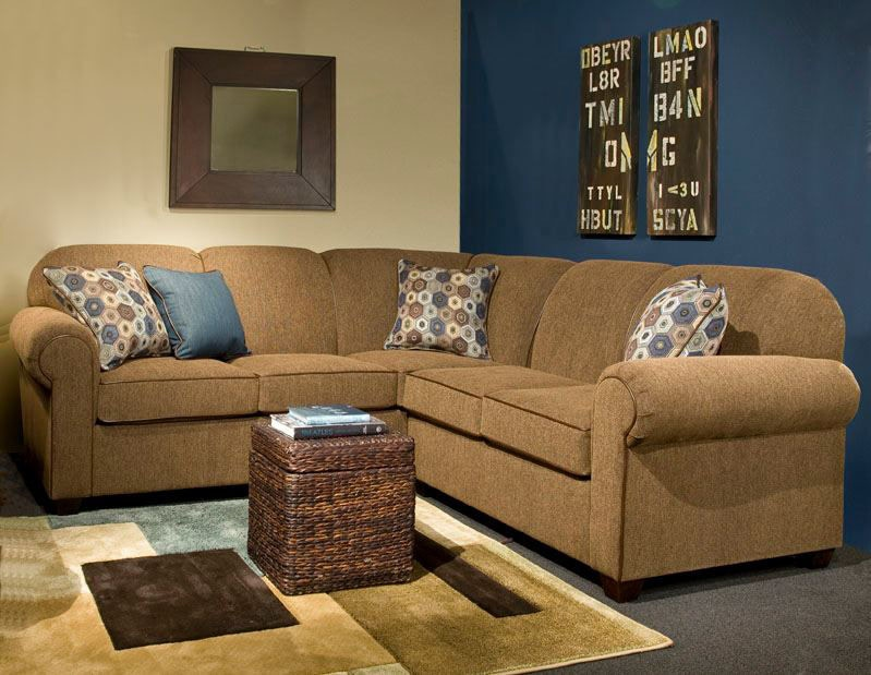 marshfield furniture living room 2-piece sectional mf2281-sect1 - penny mustard