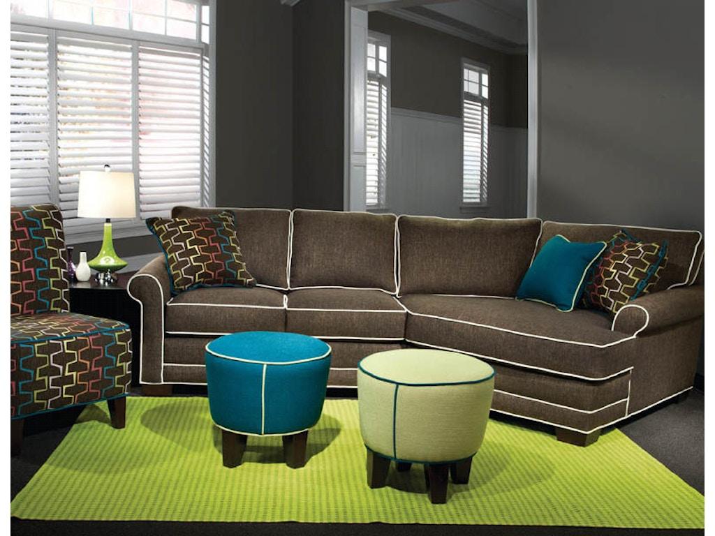 Marshfield Furniture Living Room Sock Arm Loveseat With