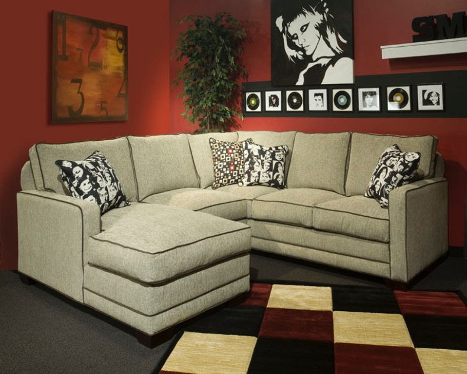 Marshfield Furniture Living Room Track Arm Sectional With Chaise