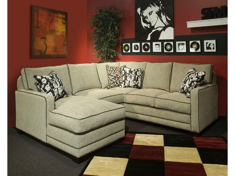 Marshfield Furniture Living Room Track Arm Sectional With