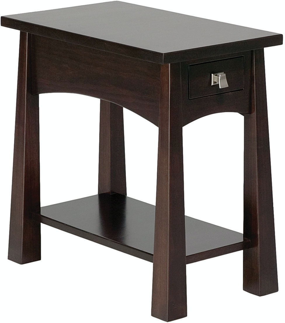 narrow end tables living room precision crafted living room flush narrow 1 drawer end 20889