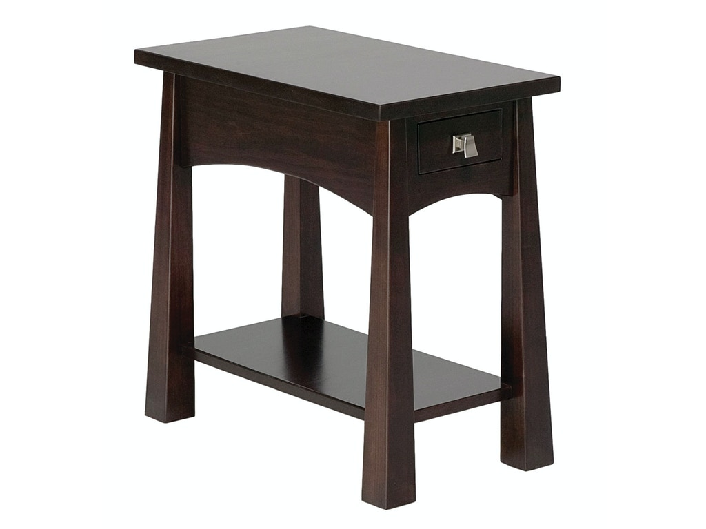 Precision Crafted Living Room Flush Narrow 1 Drawer End Table Pc4122 Penny Mustard Milwaukee