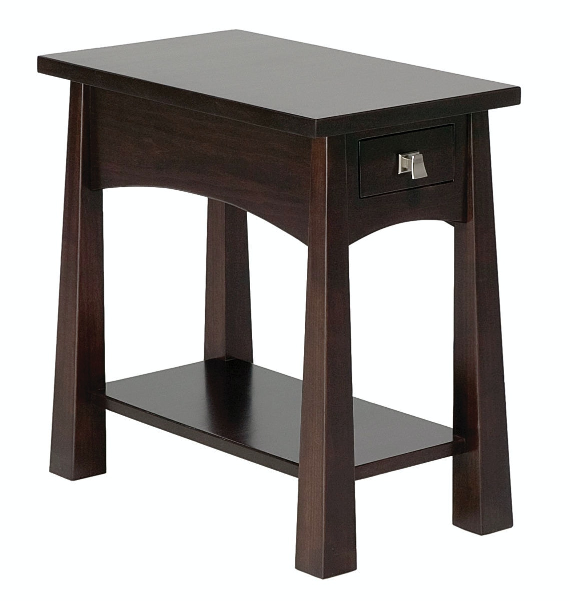 Elegant Precision Crafted Flush Narrow 1 Drawer End Table PC4122