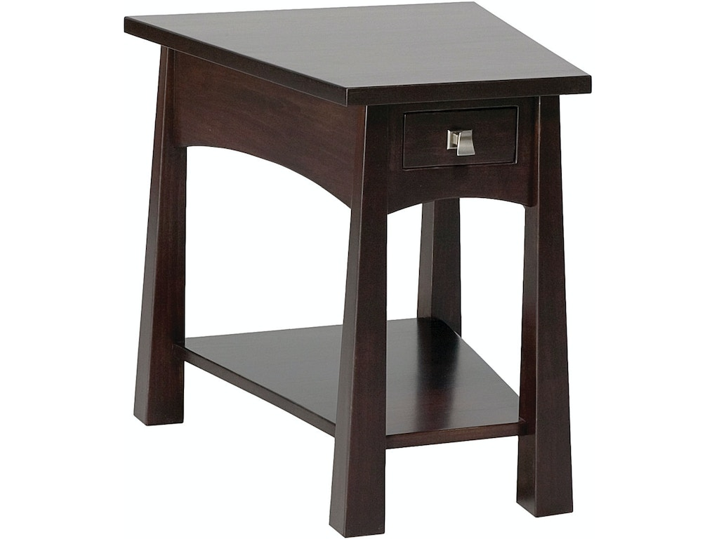 End table with drawer - Precision Crafted Flush Wedge 1 Drawer End Table Pc4123