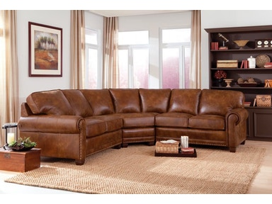 Smith Brothers 3-Piece Sectional With Corner Wedge SB393-SECT2