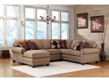 Smith Brothers 3-Piece Sectional With Chaise SB393-SECT1