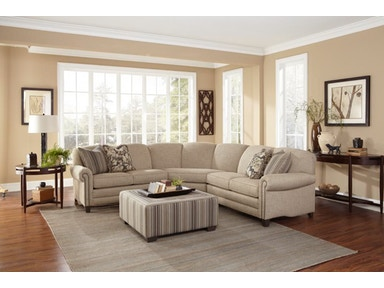 Smith Brothers 3-Piece Sectional With Wedge SB397-SECT1
