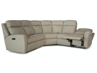 Smith Brothers 3 Piece Sectional w/Wedge - Motorized SB418-SECT2