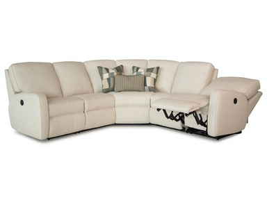 Smith Brothers 3 Piece Sectional w/Wedge - Motorized SB419-SECT1