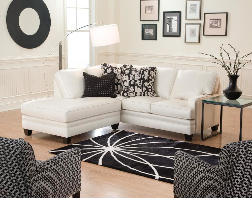 Smith Brothers 2 Piece Sectional With Bump Chaise SB5000 SECT2