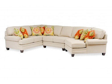 Smith Brothers 3-Piece Sectional With Wedge SB5000-SECT1