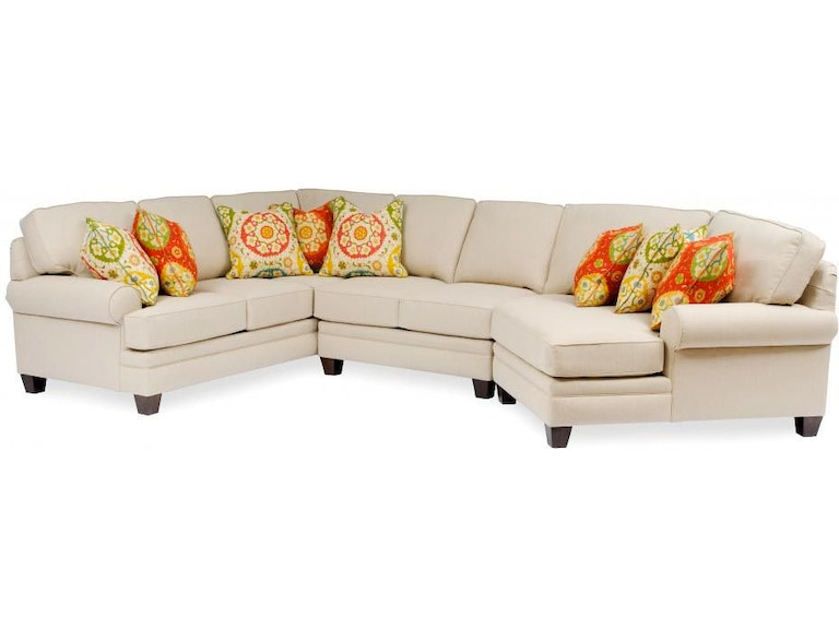 Smith Brothers Living Room 3-Piece Sectional With End Wedge SB5000 ...