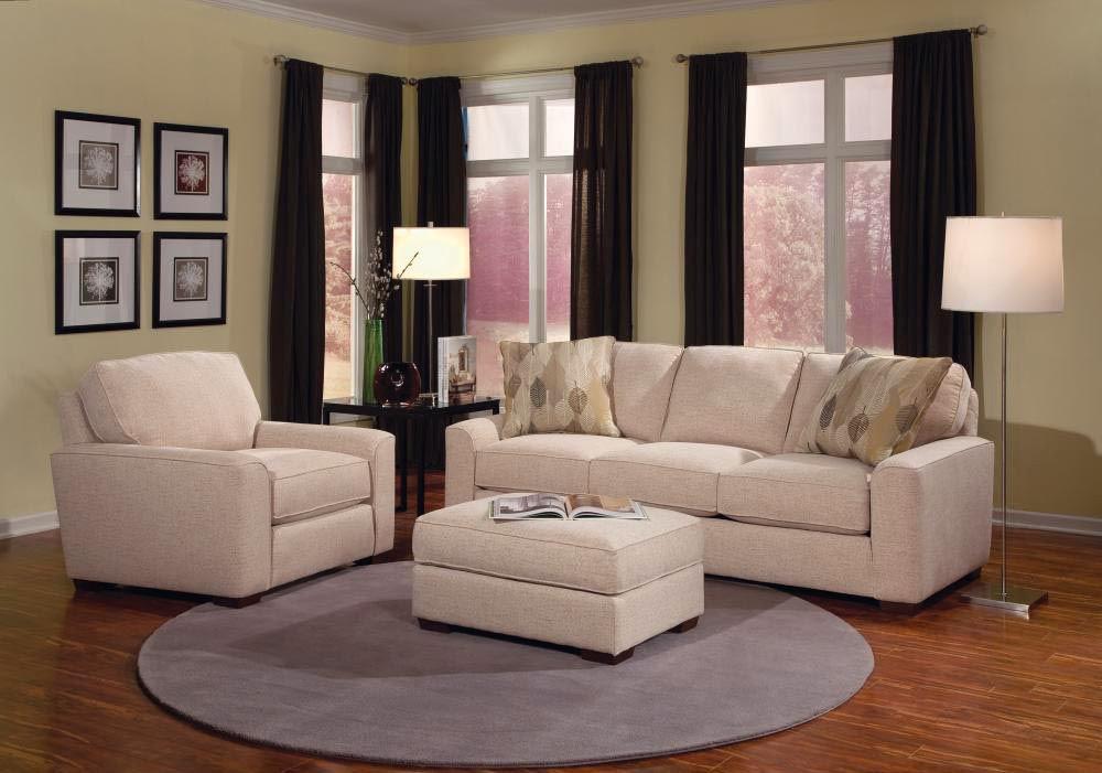 Smith Brothers Living Room 8000 Sofa SB8000 10 Penny Mustard