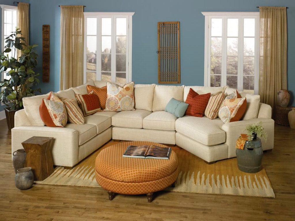 3 Piece Sectional With End Wedge