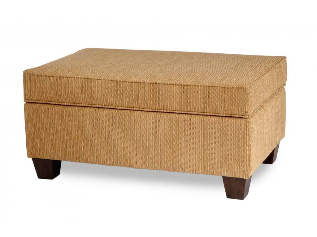 Living Room Ottoman With Storage Smith Brothers Living Room 900 Storage Ottoman Taper Leg Sb900 61