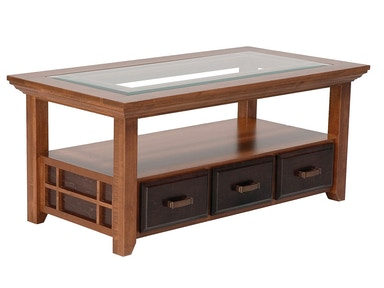 Abalone Ritta 3 Drawer Glass Coffee Table SC2153
