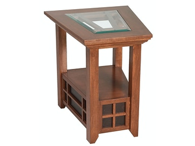 Abalone Ritta Glass Wedge End Table SC2323