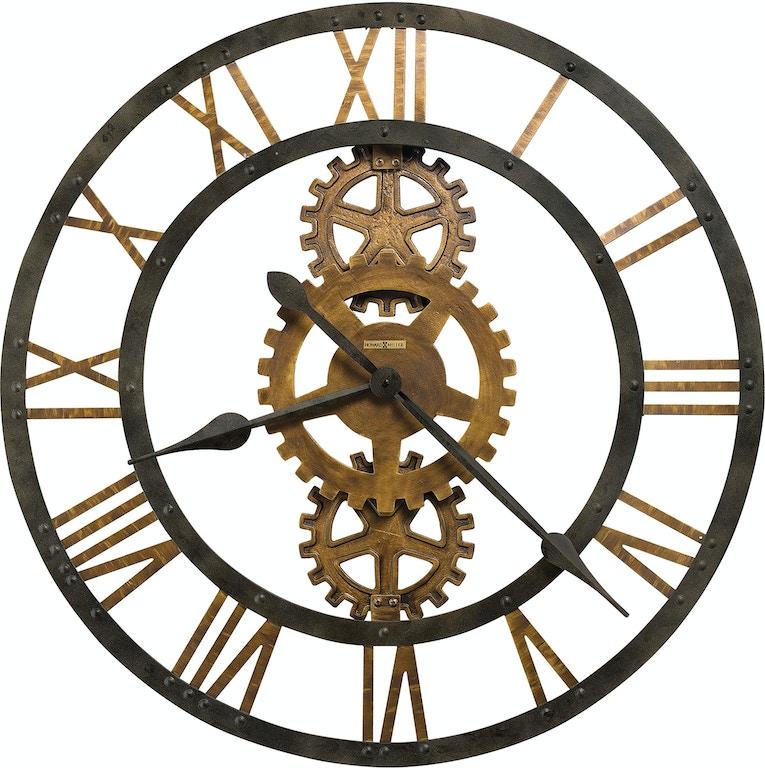 Howard Miller Accessories Crosby Wall Clock 625517 Grace Furniture