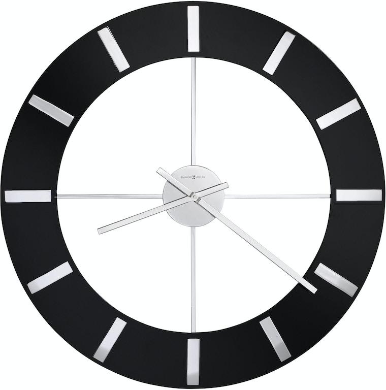 Howard Miller 625 602 Accessories Onyx Wall Clock