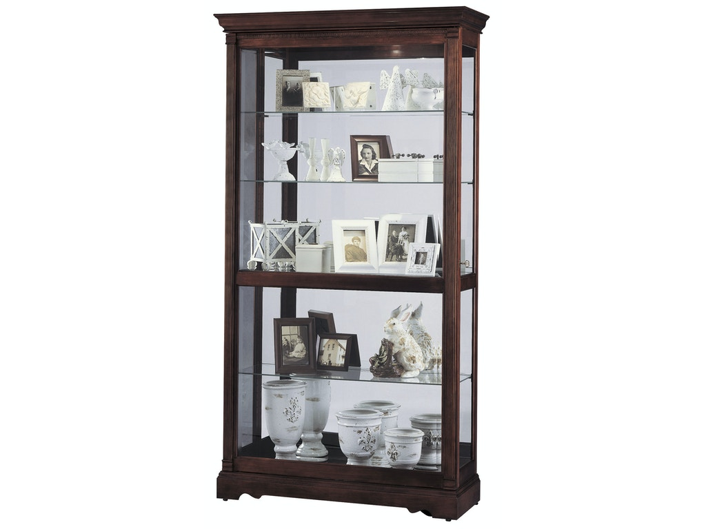 Howard miller living room dublin curio cabinet 680337 for Living room dublin