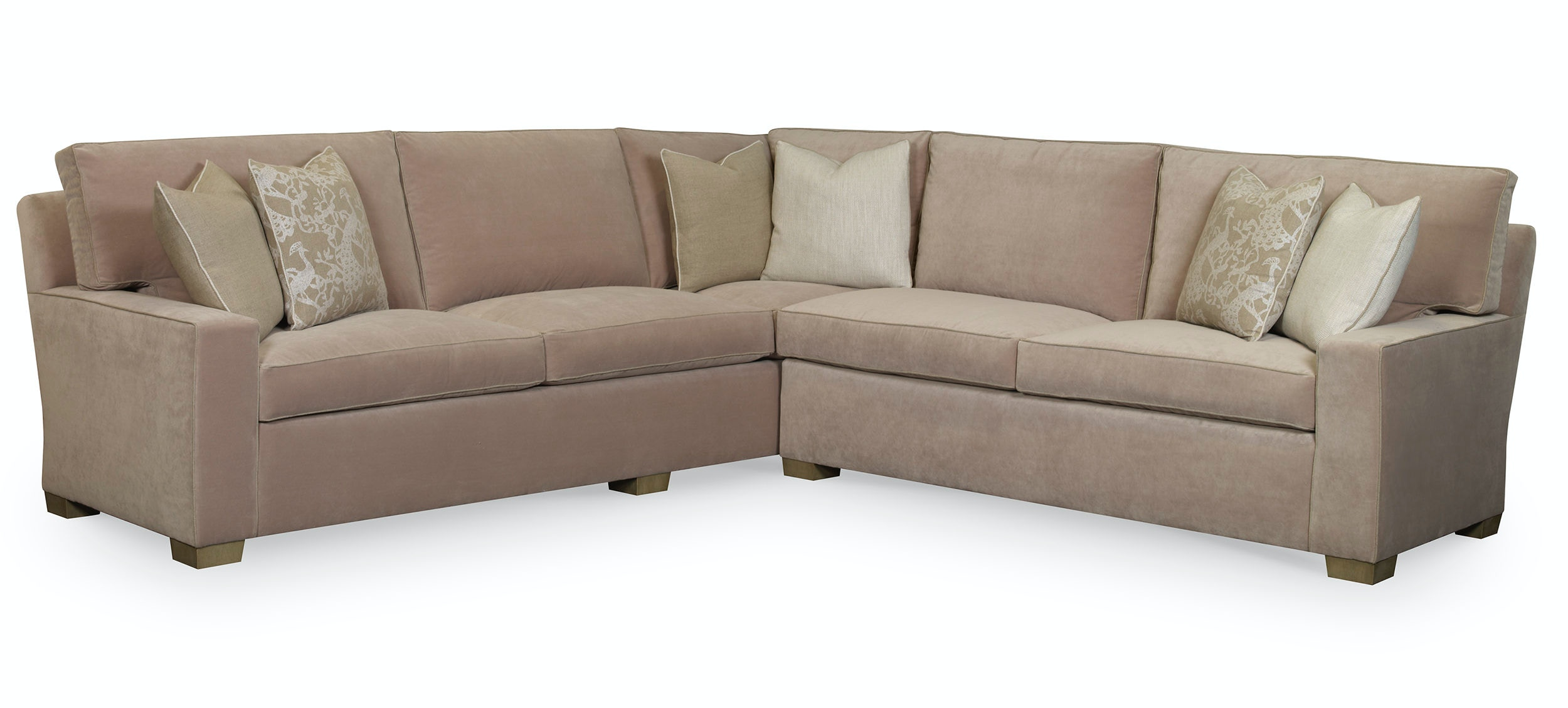 Welted Frame, Seats, Back Pillows, And Throw Pillows. Michigan Avenue  Sectional (Two U0026 Three Seat Sofas W/Built In Corner) 2622 Sectional EJ  Victor
