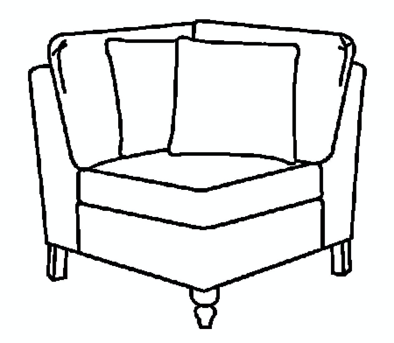Ej Victor Living Room As You Like It Corner Chair 574 38