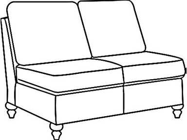 EJ Victor As You Like It Two Seat Armless Loveseat 574-46