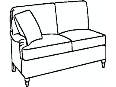 EJ Victor As You Like It LAF/RAF English Arm Loveseat 574-53