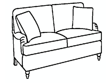 EJ Victor As You Like It English Arm Loveseat 574-62