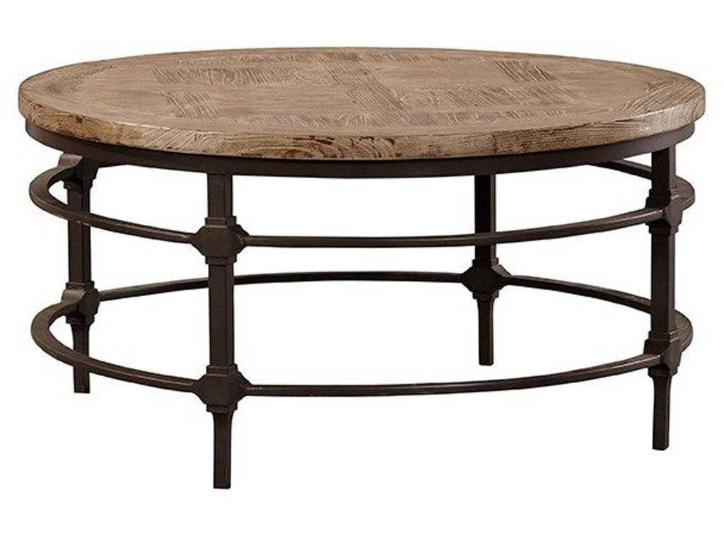 Furniture classics living room cold iron round coffee table 20 096 cherry house furniture la Round coffee table in living room